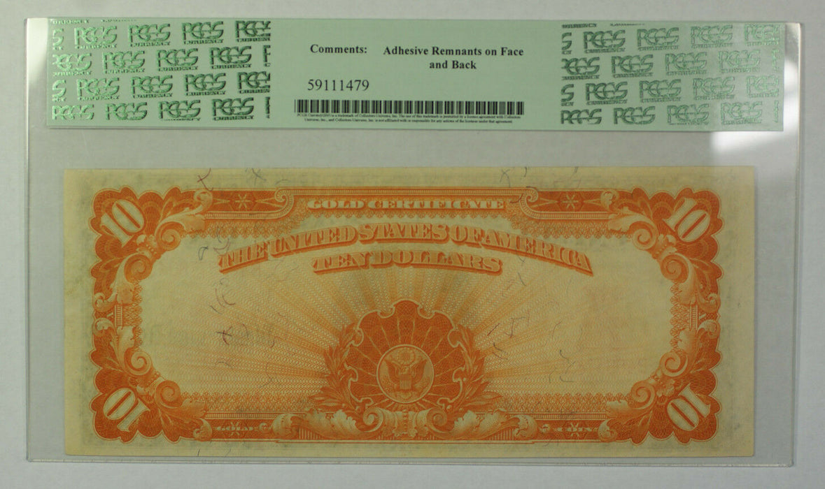 1907 $10 Dollar Gold Certificate Currency Note Fr. 1169a PCGS 63 Crisp UNC