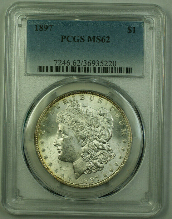 1897 Morgan Silver Dollar $1 Coin PCGS MS-62 Toned Reverse (21) D