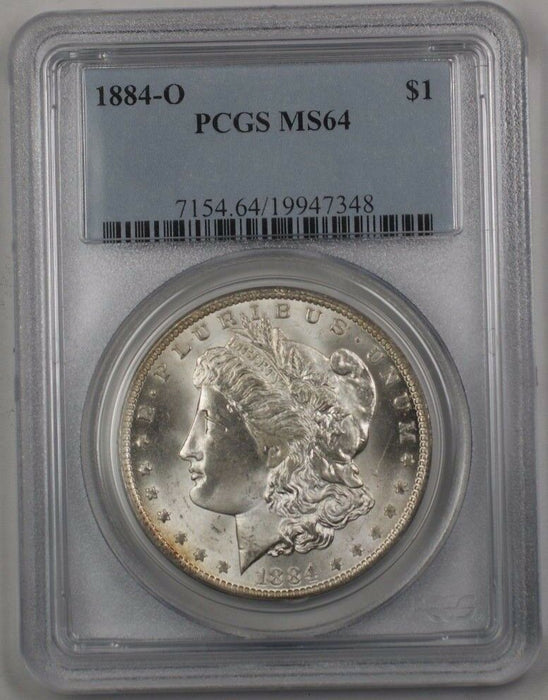 1884-O US Morgan Silver Dollar $1 Coin PCGS MS-64 (Better) BR3 N