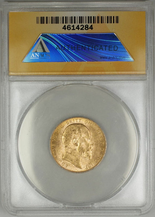 1909-P Australia Sovereign Gold Coin ANACS MS-62 (C AMT)