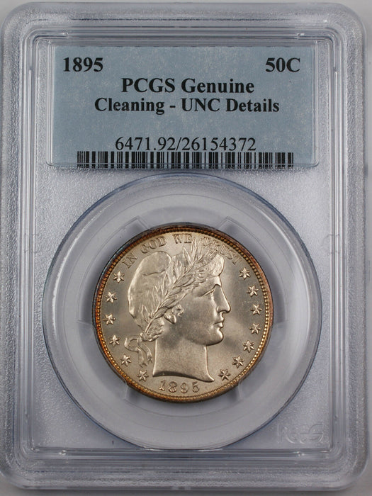 1895 Silver Barber Half Dollar, PCGS UNC Details *Very Choice BU Coin*
