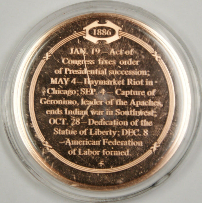 Bronze Proof Medal Liberty Welcomes the World October 28 1886