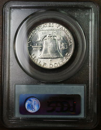 1960 Franklin Silver Half Dollar, PCGS MS-64 Toned