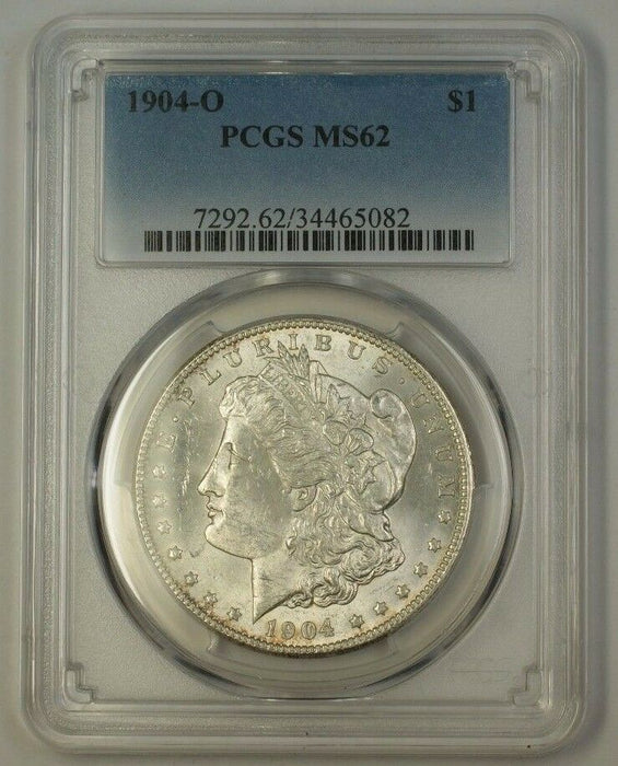 1904-O US Morgan Silver Dollar $1 Coin PCGS MS-62 (17)