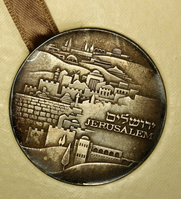 1971 Israel Jerusalem The Kenesset State UNC Silver Medal with Cardboard Box