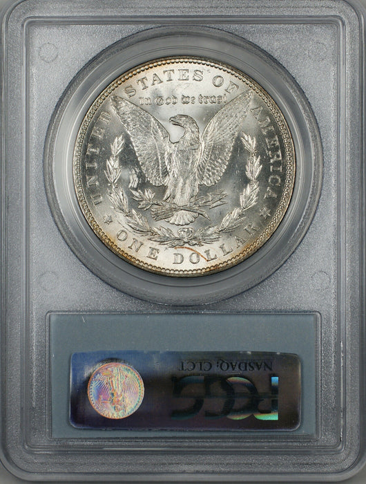 1887 Morgan Silver Dollar $1 Coin PCGS MS-63 (BR-20 M)