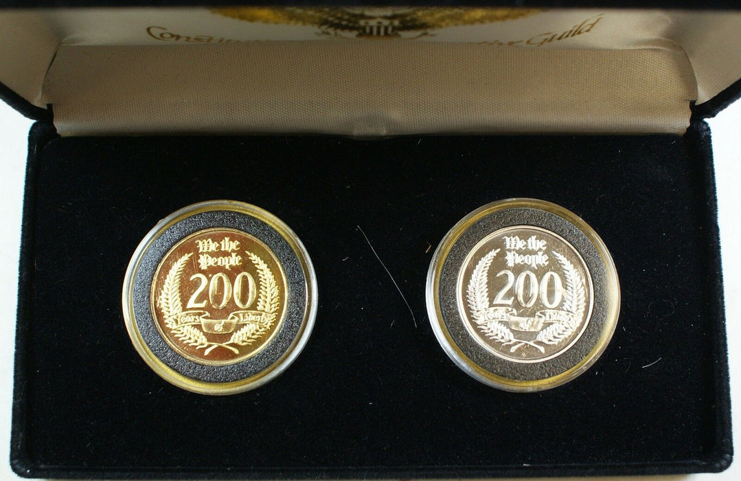 2 SILVER Coins Celebrating the 200 Year Anniversary of the US Constitution
