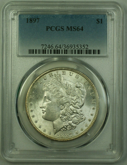 1897 Morgan Silver Dollar $1 Coin PCGS MS-64 Better Coin (21) G