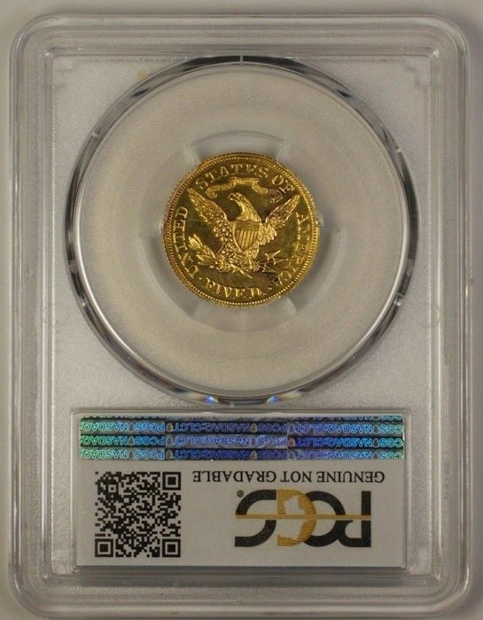 1865 $5 Liberty Half Eagle Gold Coin PCGS PR UNC Det J-446 Judd Pattern WW