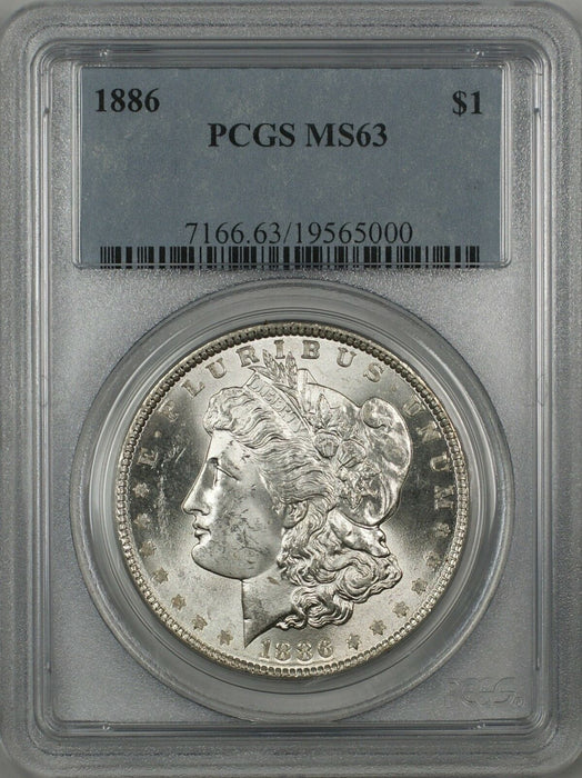 1886 Morgan Silver Dollar $1 PCGS MS-63 (Better Coin) (H) RL