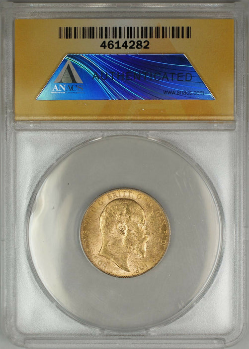 1909-P Australia Sovereign Gold Coin ANACS MS-62 (A AMT)