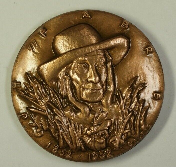 Large Bronze Medal For J H Fabre Father of Modern Entomology By A Galtie W Box D
