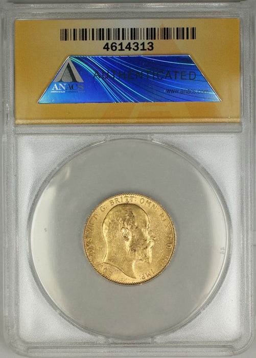 1906 Great Britain Sovereign Gold Coin ANACS AU-58 (A AMT)
