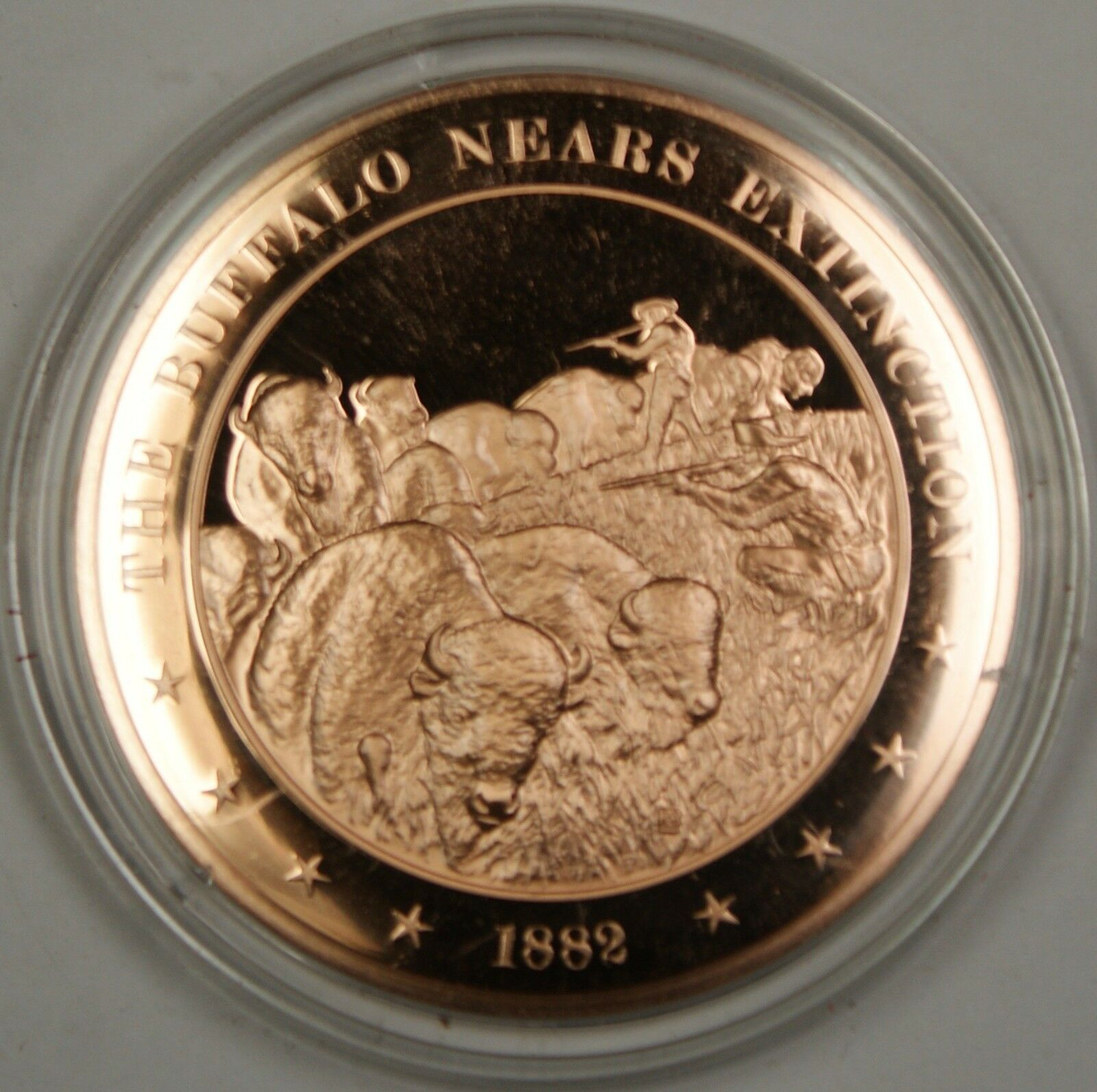 Bronze Proof Medal The Buffalo Nears Extinction 1882