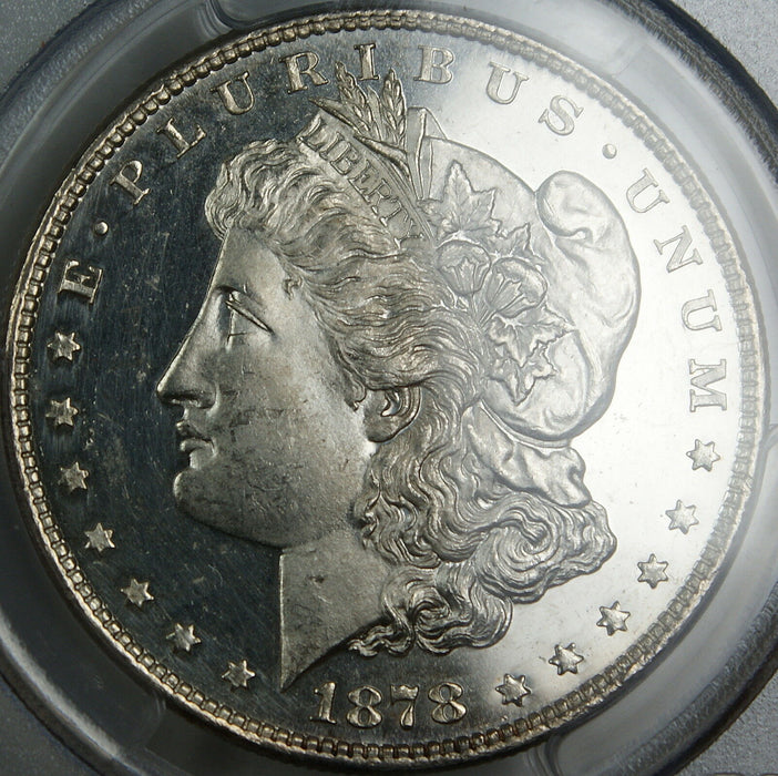 1878 8TF Morgan Silver Dollar, PCGS Genuine, (Looks DMPL) UNC Details - Cleaned