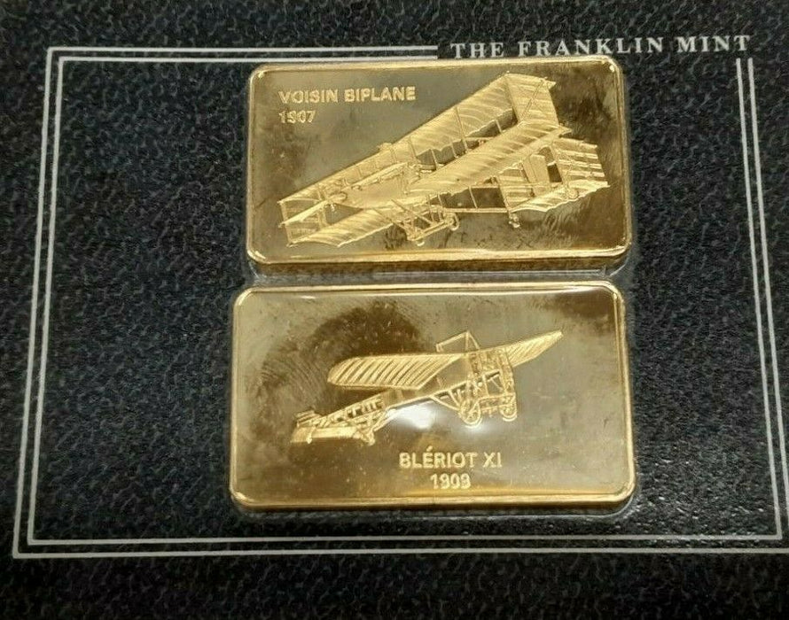 Jane's Medallic Register Great Aircraft Bronze Ingots on Card/1909 Bleriot