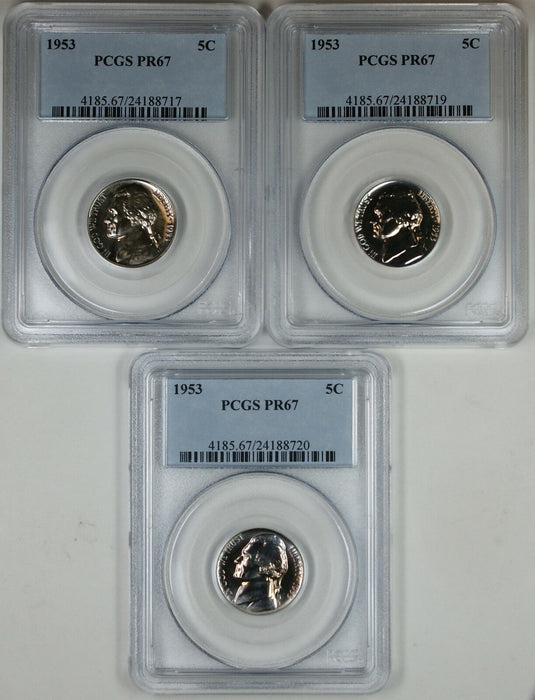 1953 Proof Jefferson Nickel, PCGS PR-67, *PRICE FOR ONE COIN ONLY*