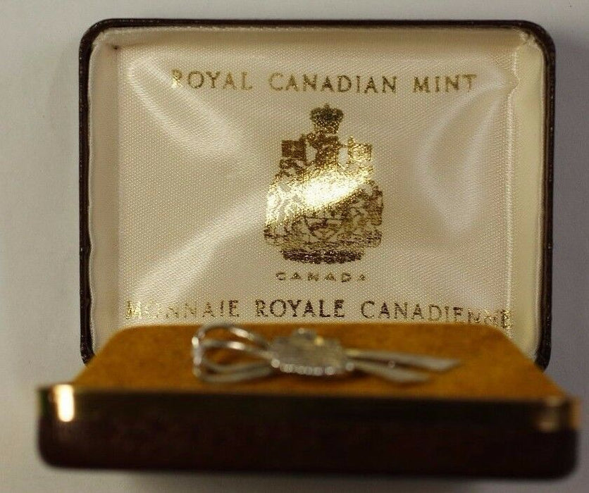 Silver Lapel Pin from the Royal Canadian Mint in the Shape of the Mint Seal