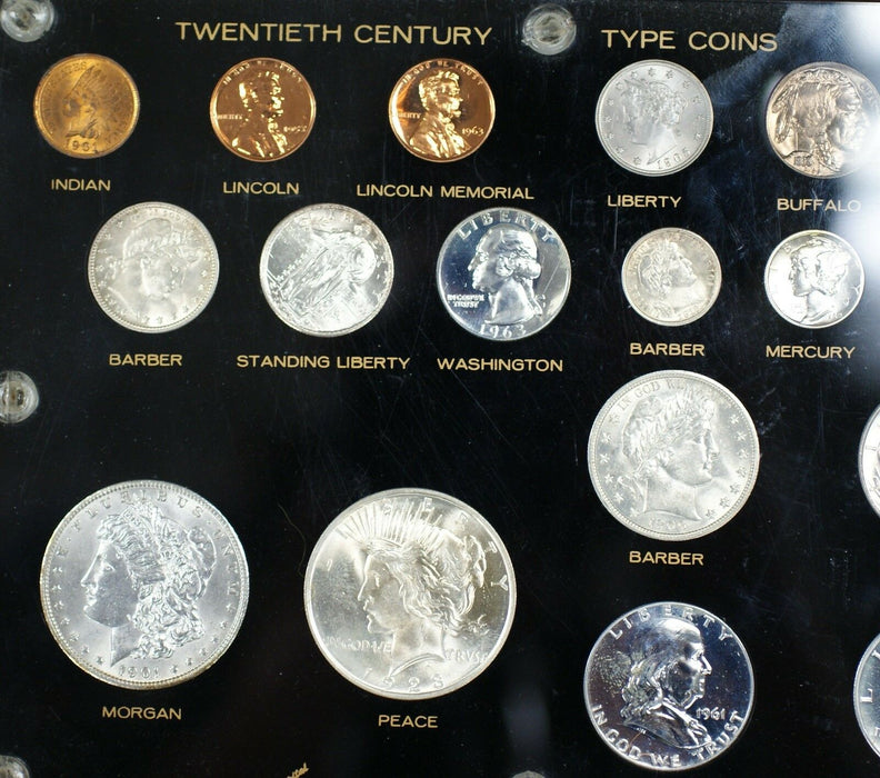 Type Collection 20th Century United States Brilliant Uncirculated Silver 18 Coin