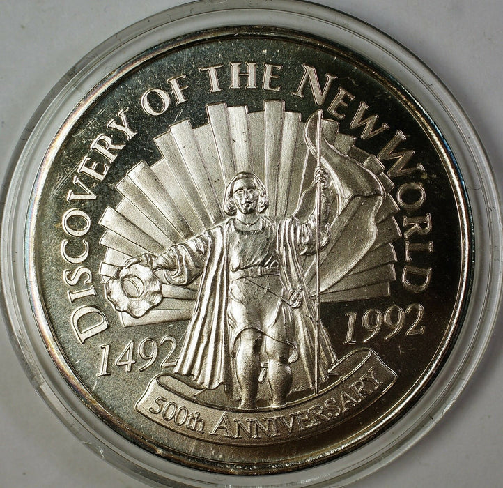 1992 Discovery of The New World Christopher Columbus Uncirculated Silver Medal