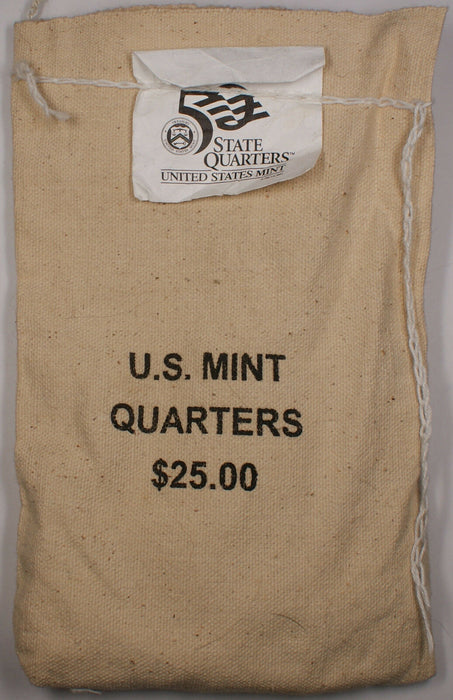 $25 (100 UNC coins) 2005 West Virginia - D State Quarter Original Mint Sewn Bag