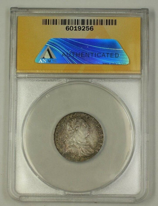 1787 Great Britain Six Pence 6p Silver Coin KM-606.2 ANACS AU-55 Details Cleaned
