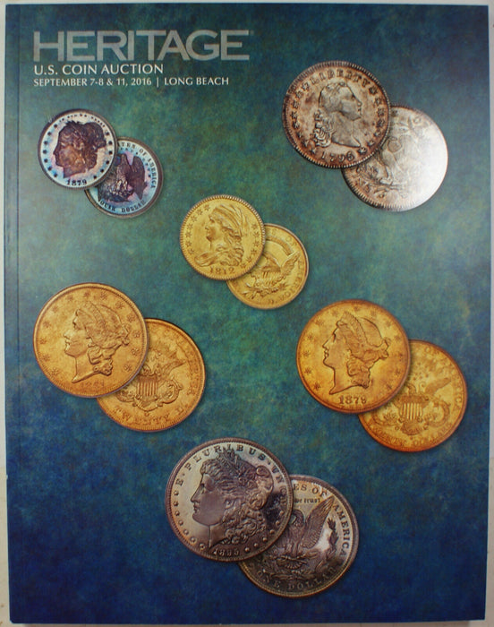 September 7-8 & 11 2016 U.S. Coin Auction Catalog #1239 Heritage (A83)