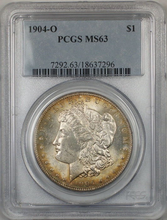 1904-O Morgan Silver Dollar $1 Coin PCGS MS-63 Toned (BR-26 F)