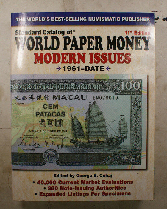 Standard Catalog of World Paper Money Mondern Issues 1961-Date 11th Edition