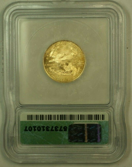 1999-W Gold Eagle $10 ICG MS-70 Struck With Unfinished Proof Dies Mint Error