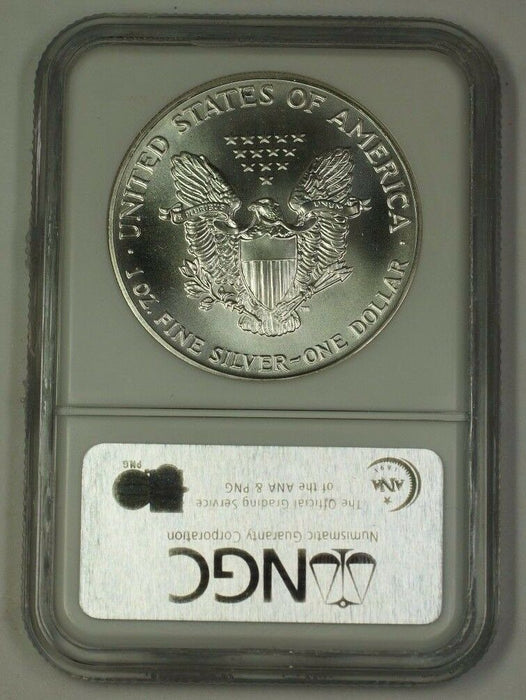 1992 American Silver Eagle ASE Dollar $1 Coin NGC MS-69 Nearly Perfect GEM