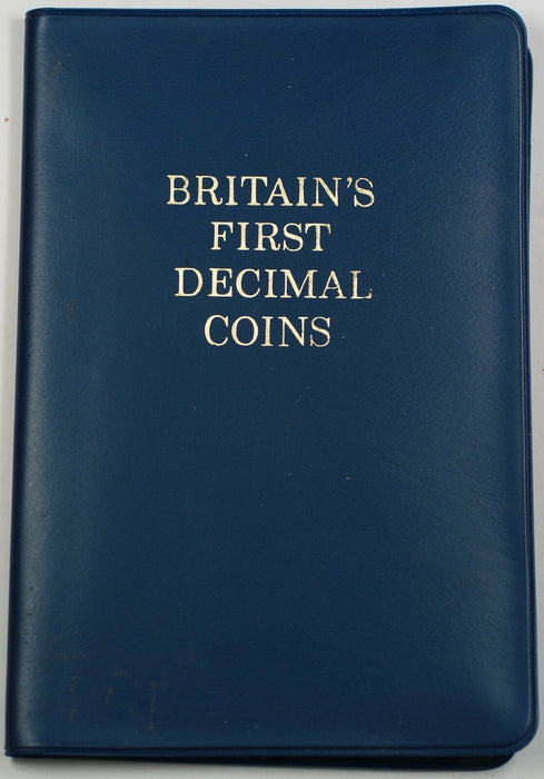 1968 Great Britain First Decimal Coins 5 BU Coin Set with COA