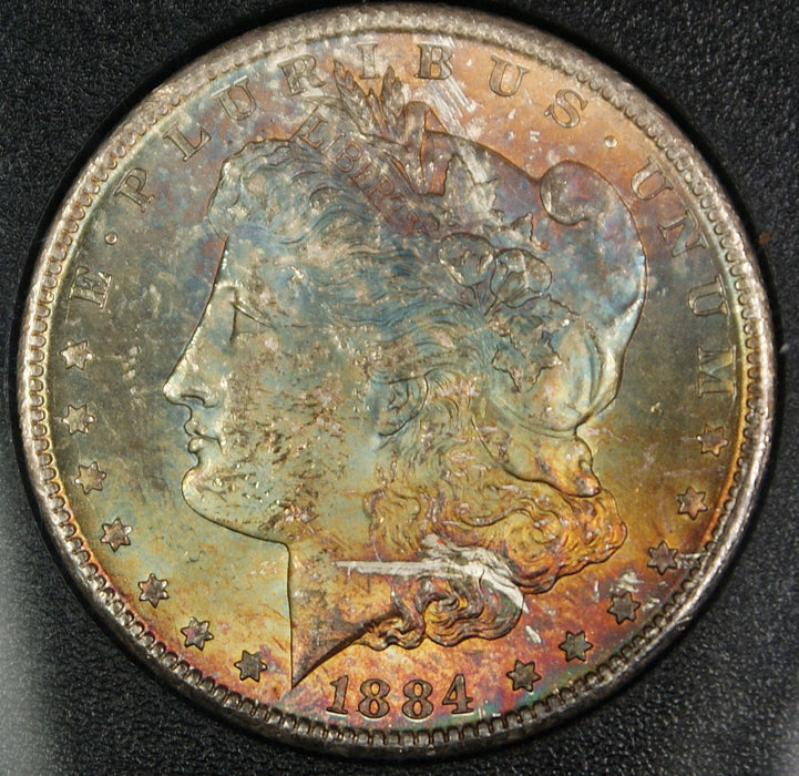 1884-CC ANACS MS-63 GSA **TONED** Morgan Silver Dollar, w/ Box & COA DGH