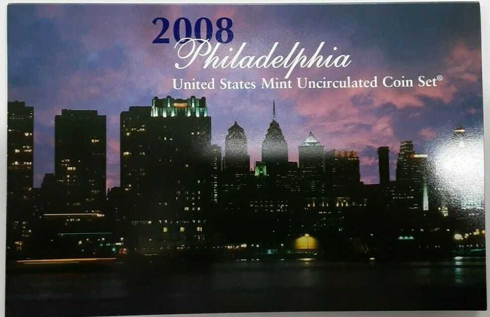 2008 P&D United States 28 Coin BU Mint Set as Issued In OGP & COA