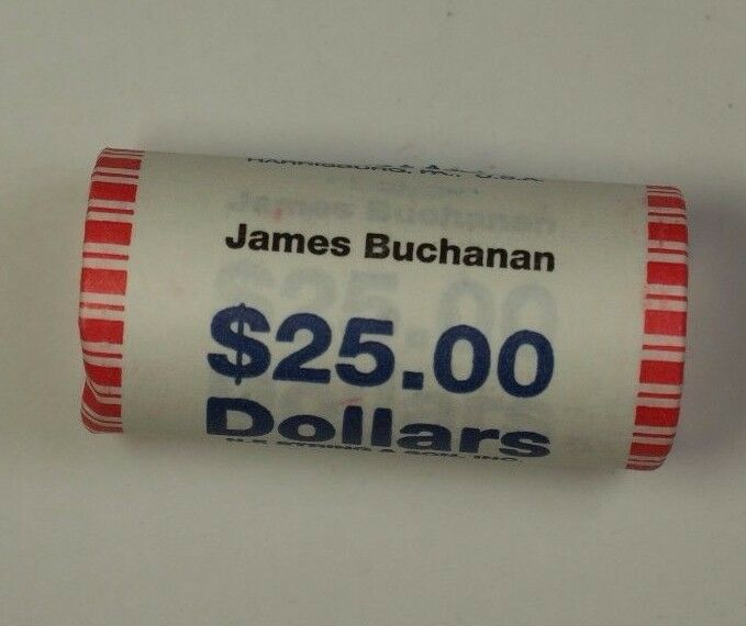 2010 James Buchanan Presidential Dollar Roll BU 25 $1 Coins *Mint Mark Unknown*