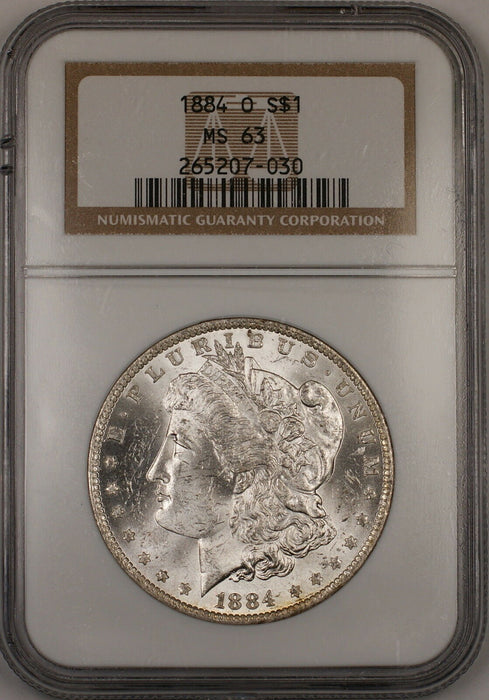1884-O Morgan Silver Dollar $1 Coin NGC MS-63 *Beautifully Toned Reverse* (Ta)