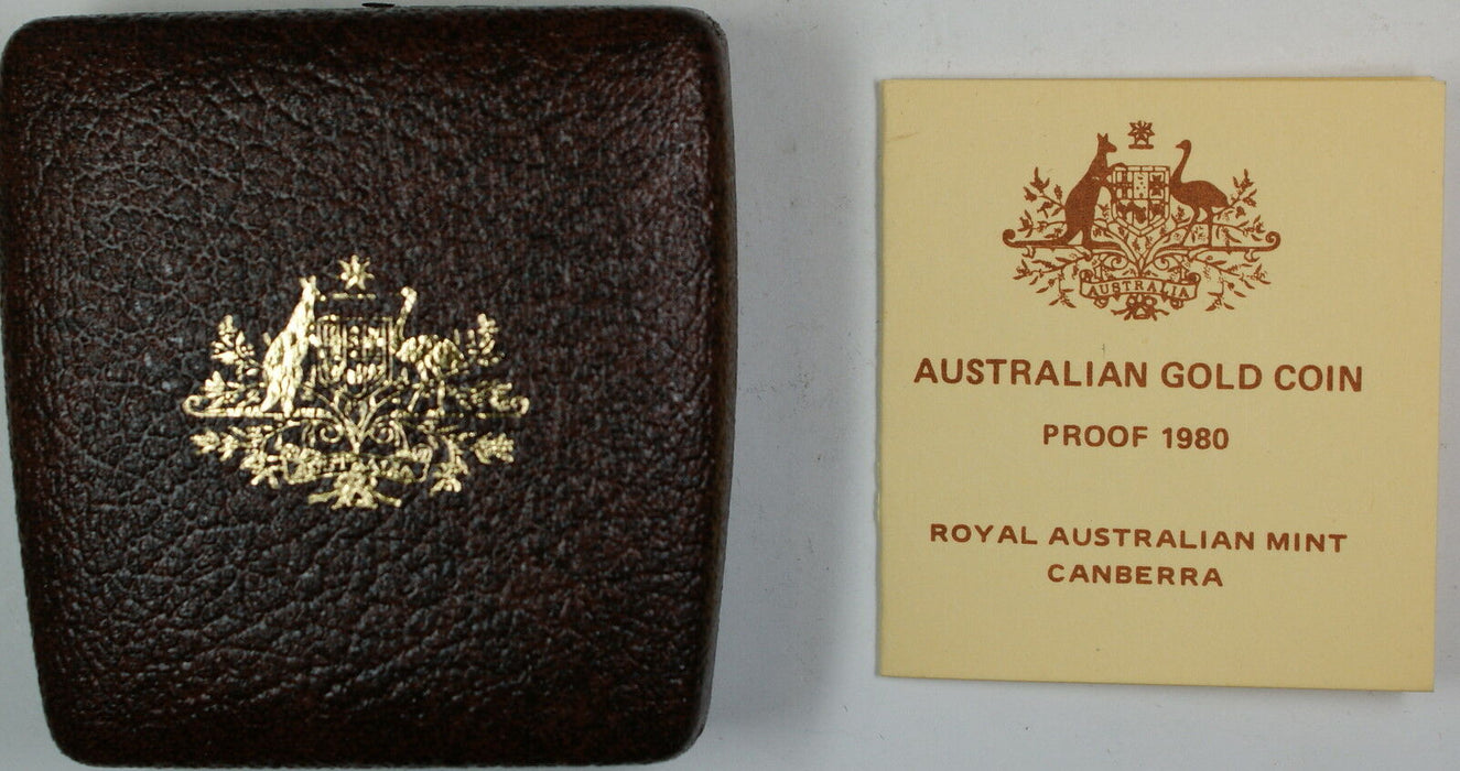 1980 Australia $200 Koala Bear Proof Cameo Gold Coin 22K In Box w/ COA