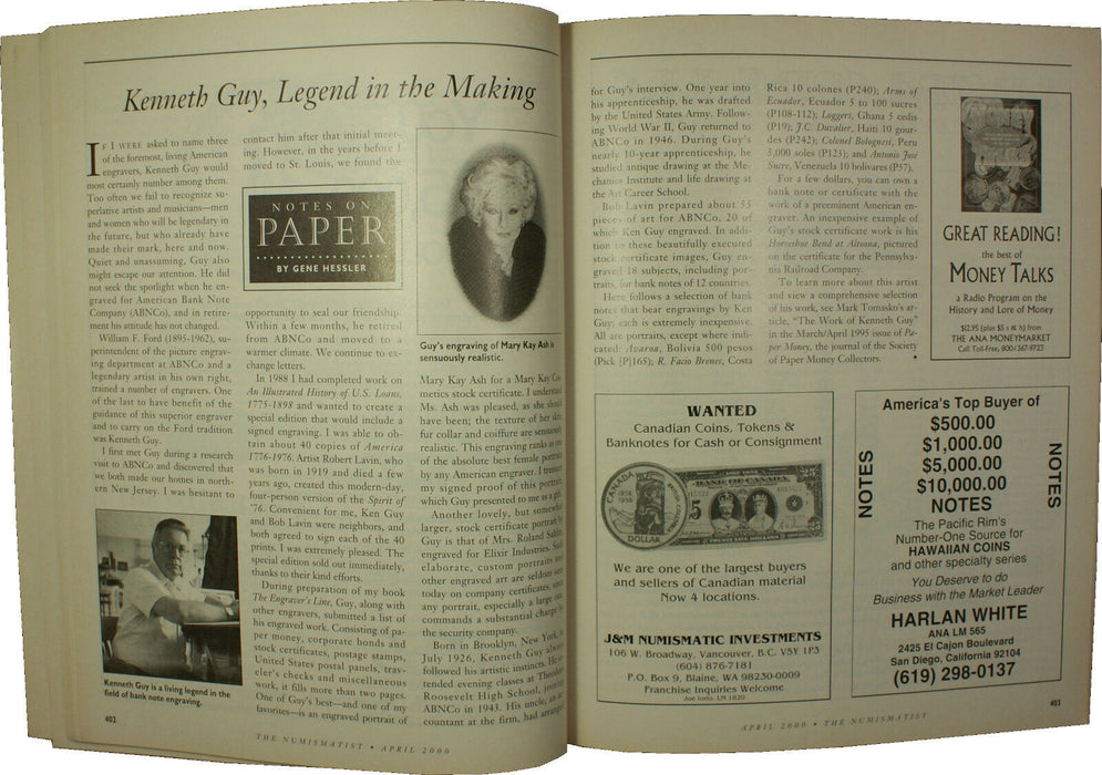 April 2000 The Numismatist Magazine Vol.113 Num.4 (EW)