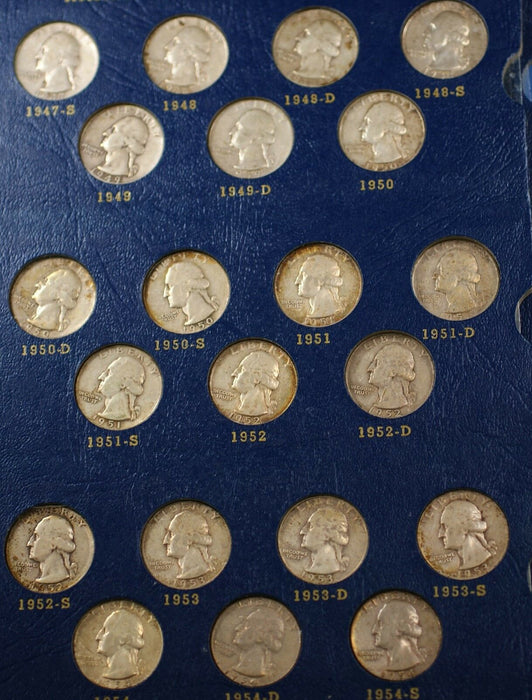 Complete Washington Quarters 1932-1964 Coin Album Silver Whitman Classic #9418
