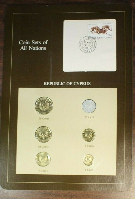 Coin Sets of All Nations Republic of Cyprus UNC 6 Coins BU