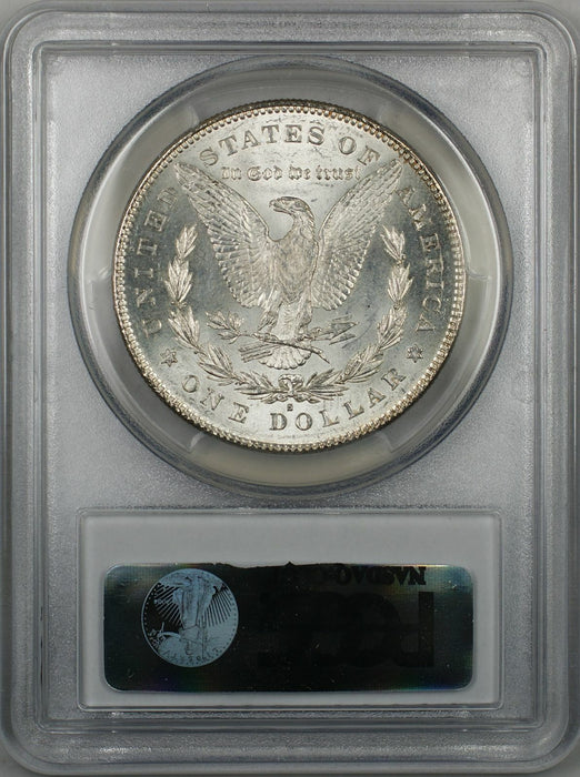 1878-S Morgan Silver Dollar Coin $1 PCGS MS-63 Toned (8P)
