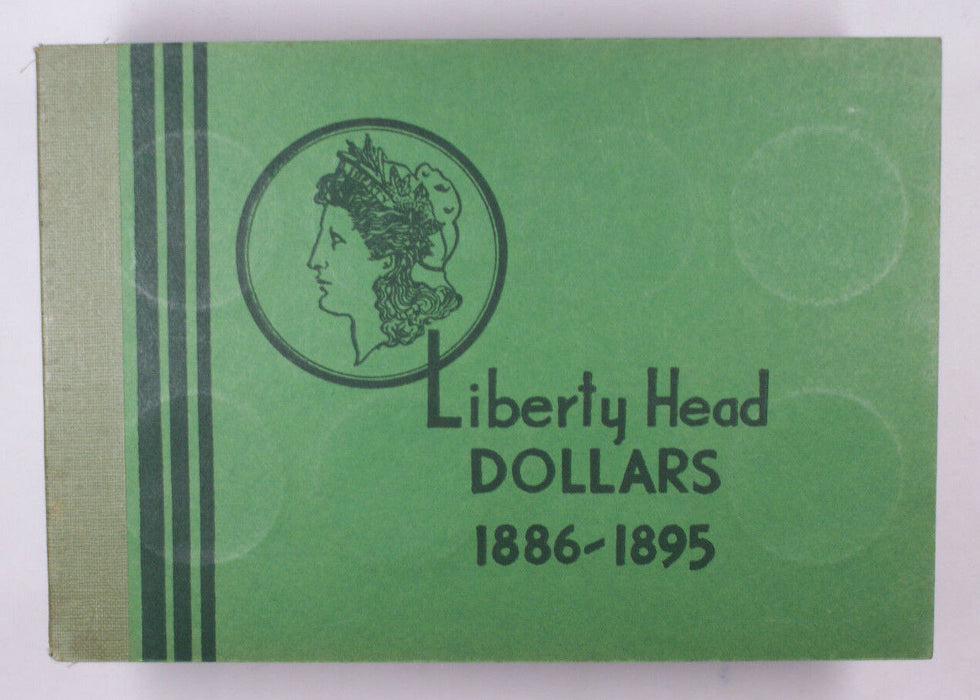 Meghrig Used Empty Coin book Liberty Head Dollars 1886-1895