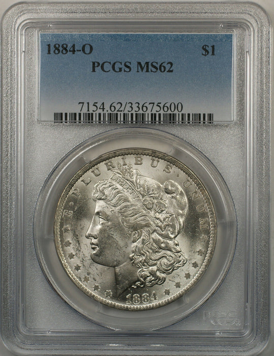 1884-O Morgan Silver Dollar $1 Coin PCGS MS-62 Better Coin (6)