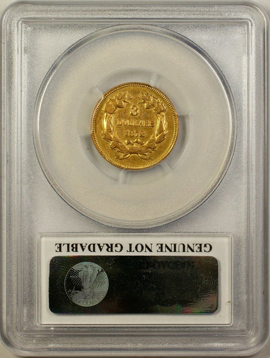 1878 $3 Gold Coin PCGS XF Details - Cleaning Extra Fine Coin