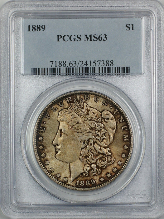 1889 Morgan Silver Dollar $1 PCGS MS-63 Toned (Better Coin) (4C)