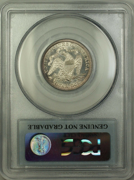 1875 Seated Liberty Silver Quarter Coin PCGS Genuine Lightly Toned (Choice BU)TW
