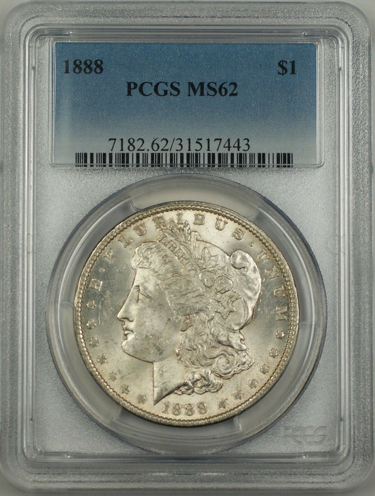 1888 Morgan Silver Dollar $1 PCGS MS62 Better Coin Toned Reverse