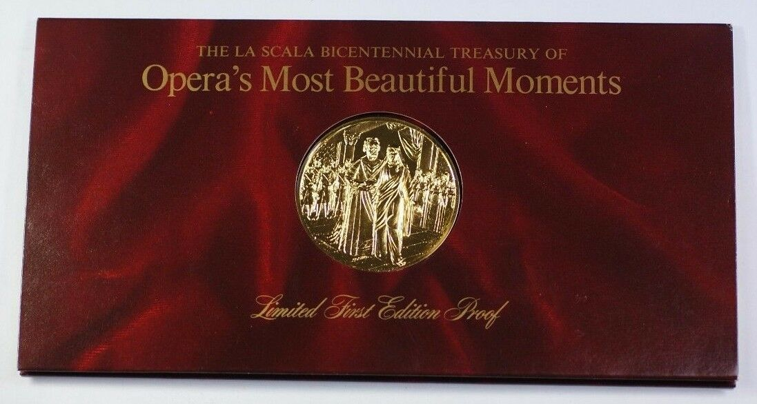 La Scala Operas Most Beautiful Moments Gold-Plated Silver Medal Lohengrin Wagner
