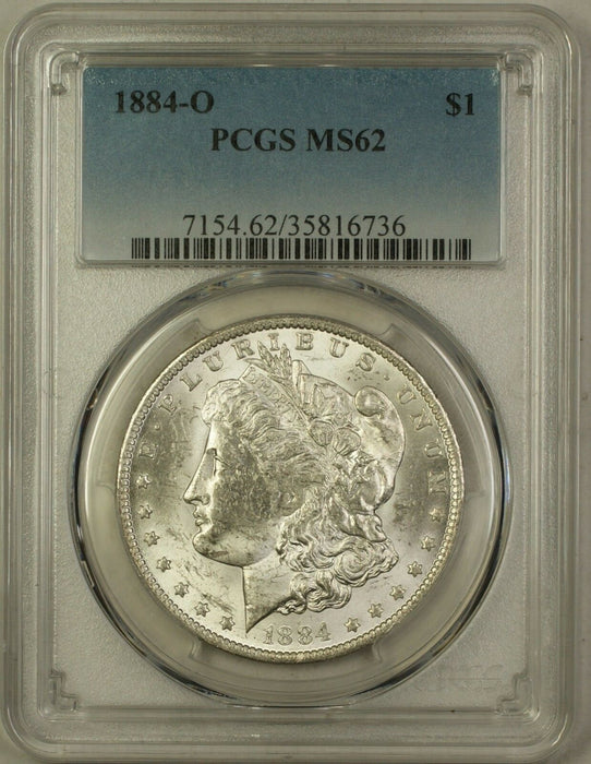 1884-O Morgan Silver Dollar $1 Coin PCGS MS-62 (5G)
