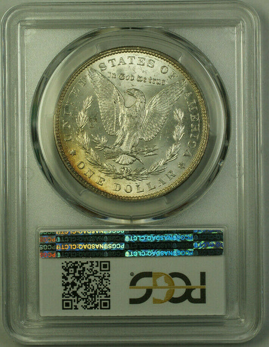 1887 Morgan Silver Dollar $1 Coin PCGS MS-63 Toned Obverse (20) (R)